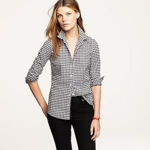 """J Crew """"The Perfect Shirt"""" Gingham Button Up"""